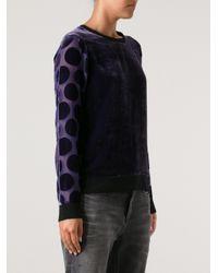 Sonia by Sonia Rykiel Purple Sonia By Sonia Rykiel Velvet Sweater