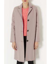 TOPSHOP Pink Raw Edge Boyfriend Coat