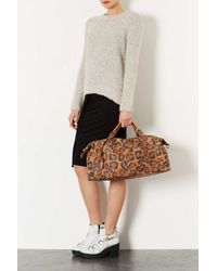 TOPSHOP Multicolor Leopard Leather Luggage