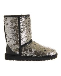 UGG Metallic Classic Short Sparkle Sequined Boots