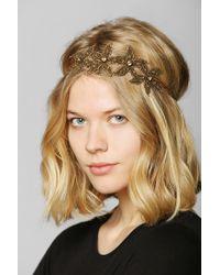 Urban Outfitters - Metallic Deepa Gurnani Gold Statement Headwrap - Lyst