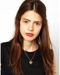 Zoe & Morgan - Metallic Honey Necklace - Lyst