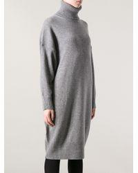 Acne Studios Gray Liston Sweater Dress
