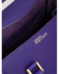 Alexander McQueen Purple Heroine Small Tote