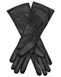 Ann Demeulemeester Black Raw Edge Seam Gloves