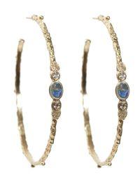 Armenta - Metallic Sculpted Hoop Earring - Lyst