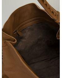 Bottega Veneta Brown Whip Stitched Tote Bag