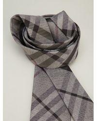 Burberry Gray Classic Check Tie for men