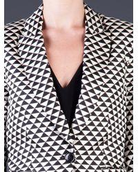 By Malene Birger Black By Malene Birger Bosede Triangle Print Blazer