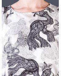 By Malene Birger Gray Jelanie Bird Printed Tank