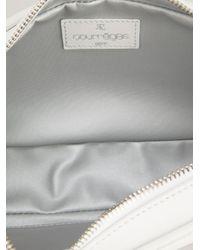 Courreges White Logo Clutch