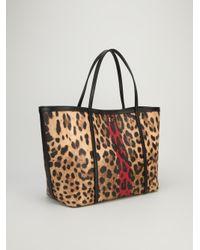Dolce & Gabbana Brown Leopard Tote Bag