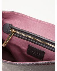 Emilio Pucci Black Python Skin Effect Shoulder Bag