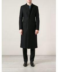 Emporio Armani Black Formal Long Coat for men