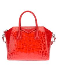 Givenchy Red Antigona Micro Tote