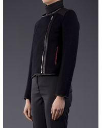 Hache Black Hache Leather Trim Jacket