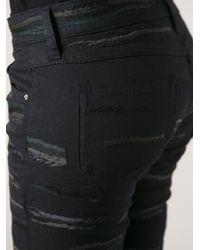 Isabel Marant Black Orson Embroidered Skinny Jean
