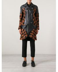 Junya Watanabe Brown Checked Faux Leather Coat