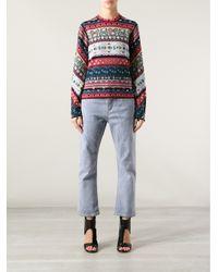 KENZO - Multicolor Fair Isle Sweater - Lyst