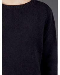 Lareida | Black Boat Neck Sweater | Lyst