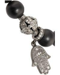 Loree Rodkin | Black 18karat White Gold Diamond and Wooden Bead Bracelet | Lyst
