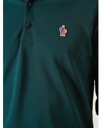 Moncler Grenoble Green Long Sleeve Polo Shirt for men