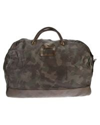 Numero 10 Brown Camouflage Weekend Bag for men