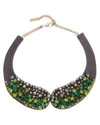 Rada' - Green Crystal Embellished Necklace - Lyst