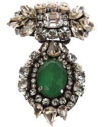 Rada' | Metallic Crystal Brooch | Lyst