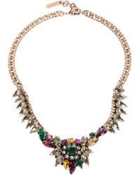 Rada' | Multicolor Spiked Crystal Chain Necklace | Lyst
