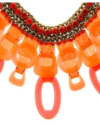 Sveva Collection | Orange Vegas Crystal Necklace | Lyst