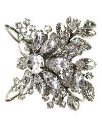 Tom Binns | Metallic Crystal Floral Bangle | Lyst