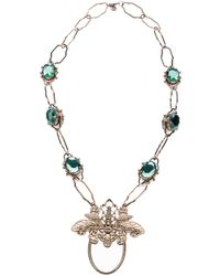 Tory Burch Metallic Butterfly Necklace