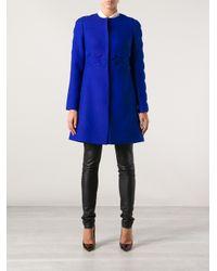 Valentino Blue Scalloped Coat