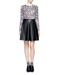 Whistles - Gray Floral Animal Print Sweater - Lyst