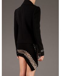 Anthony Vaccarello Black Embroidered Skirt