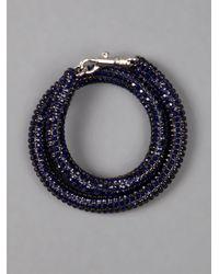 Atelier Swarovski Blue Crystal Bracelet