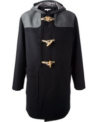 Carven Blue Serge Duffle Coat for men