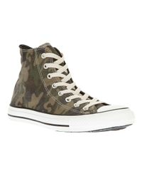 Converse Green Camouflage Hitop for men