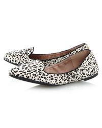 Dune White Mexxys Elastic Slipper Shoes