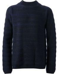Gaspard Yurkievich Blue Striped Sweater for men