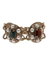 Gerard Yosca - Metallic Jeweled Pendant Bracelet - Lyst