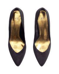 H&M Black Court Shoes