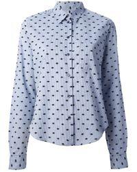 KENZO Blue Eye Print Shirt