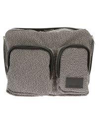 Kris Van Assche Gray Textured Bum Bag for men
