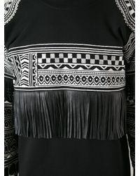 KTZ Black Tattoo Embroidered Sweatshirt for men