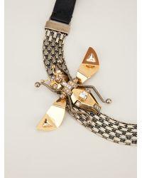 Lanvin - Black Choker Necklace - Lyst
