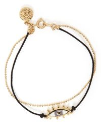 Marc By Marc Jacobs | Black Enamel Eye Friendship Bracelet | Lyst
