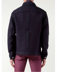 Naked & Famous Blue Quilted Jacket for men
