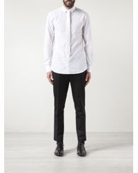 Neil Barrett White Classic Collar Tie Shirt for men